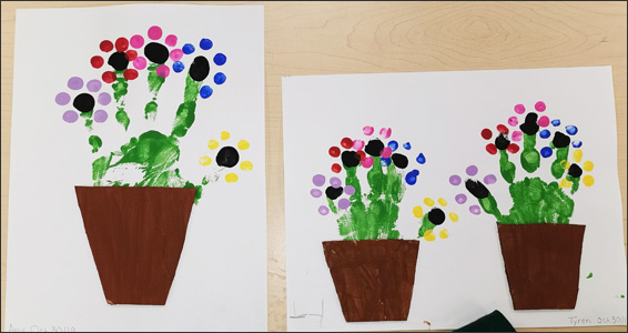 Flower pot paintings