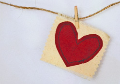 craft heart on a rope